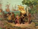 The new world: Discovered by Italians, Baptized by Germans, and Financed by Spanish and Portuguese.